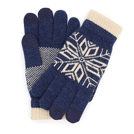 xiaomi mi mens touchscreen wool winter gloves blue beige 01 3597 1480498715