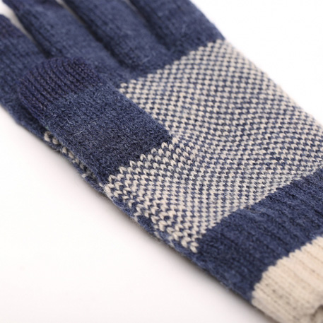 xiaomi mi mens touchscreen wool winter gloves blue beige 04 3597 1480497841