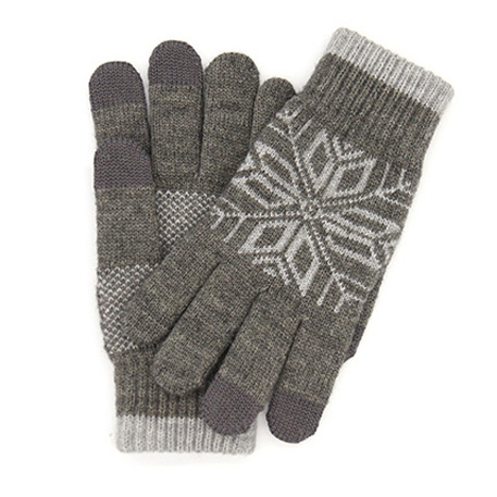xiaomi mi mens touchscreen wool winter gloves dark gray light gray 01 3598 1480498864