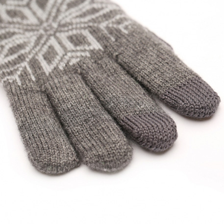 xiaomi mi mens touchscreen wool winter gloves dark gray light gray 03 3598 1480498865