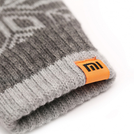 xiaomi mi mens touchscreen wool winter gloves dark gray light gray 05 3598 1480498865