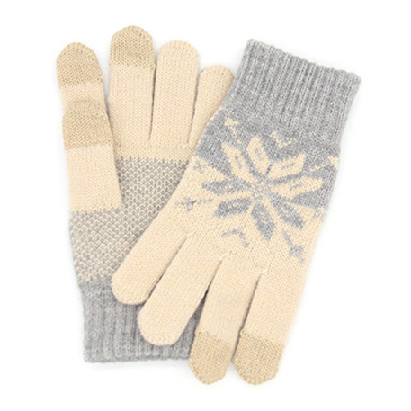 xiaomi mi womens touchscreen wool winter gloves gray beige 01 3604 1480500306
