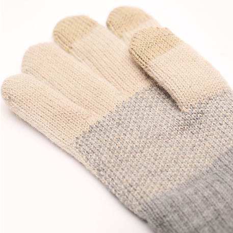 xiaomi mi womens touchscreen wool winter gloves gray beige 02 3604 1480500306