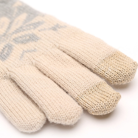 xiaomi mi womens touchscreen wool winter gloves gray beige 03 3604 1480500307