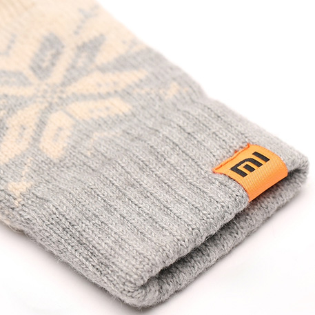 xiaomi mi womens touchscreen wool winter gloves gray beige 04 3604 1480500307