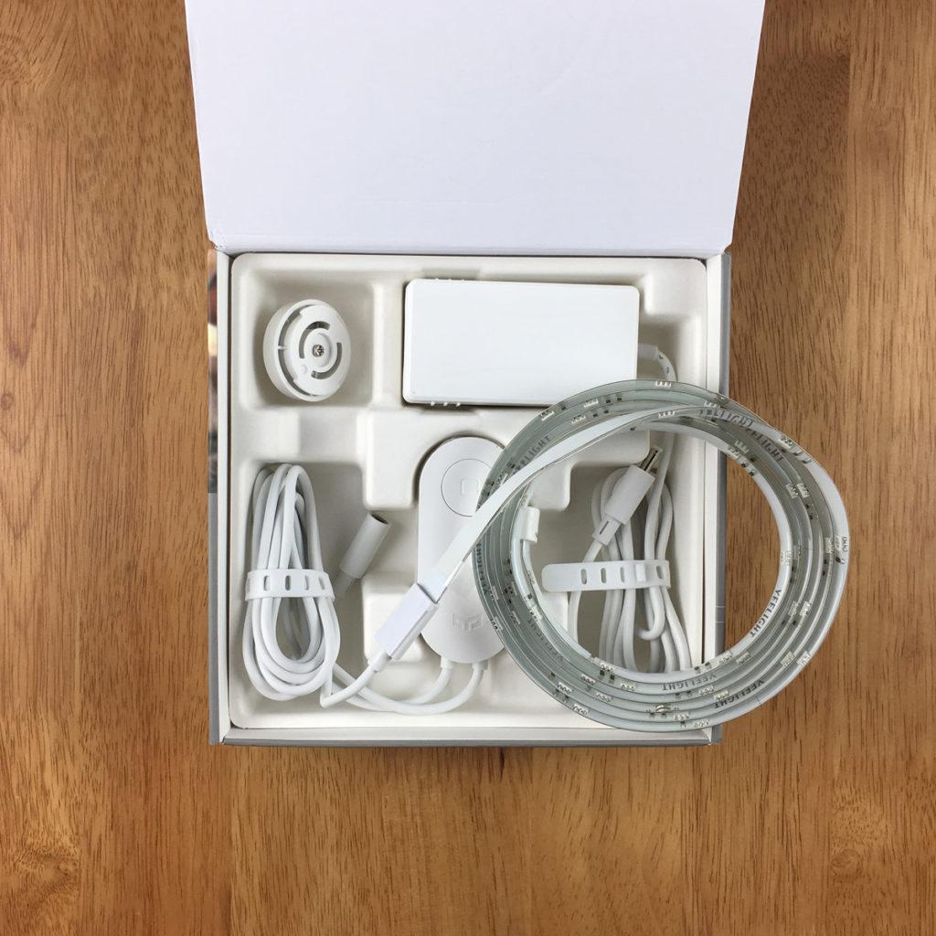 محتوای جعبه لامپ ریسه ای پلاس شیائومی