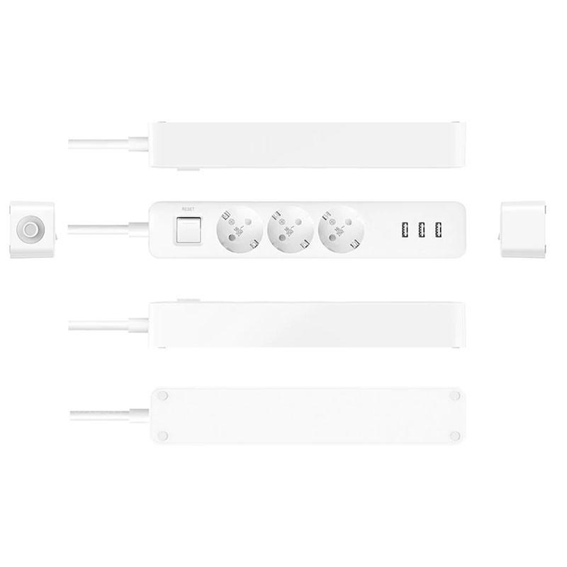 محصول شیائومی - xiaomi سه راهی برق USB دار شیائومی (سه ورودی - پلاگین اروپا)